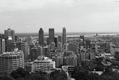 Montreal Cityscape Bw Poster