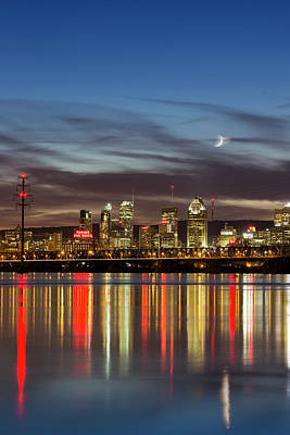 Montreal Cityscape Reflection Poster by Mircea Costina Photography
