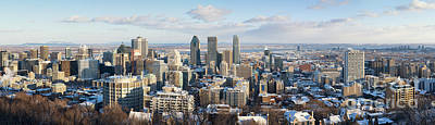 Montreal In Winter Panorama Poster by Jane Rix