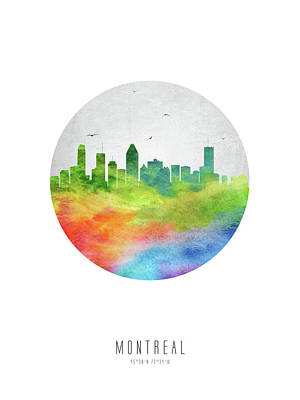 Montreal Skyline Caqcmo20 Poster by Aged Pixel