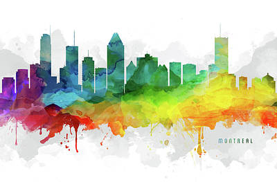 Montreal Skyline Mmr-caqcmo05 Poster by Aged Pixel