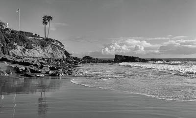 Poster featuring the photograph Monument Point Laguna Beach by Cliff Wassmann