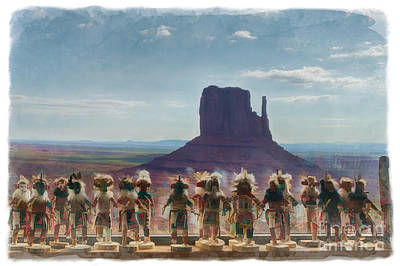 Monument Valley Kachina Dolls Poster by Priscilla Burgers