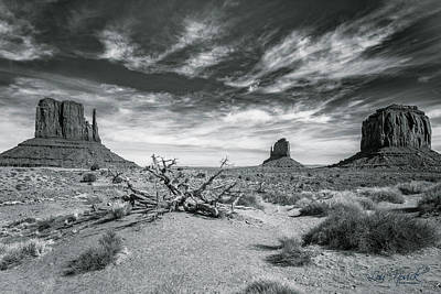 Poster featuring the photograph Monument Valley by Lou Novick
