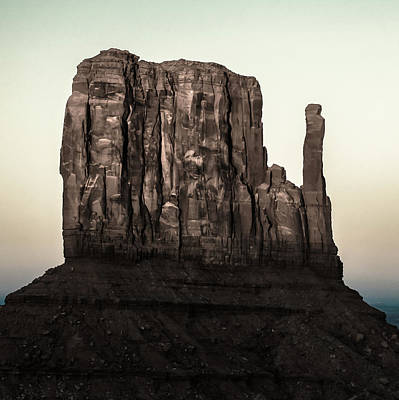 Monument Valley Mitten Utah Arizona - Cold Tones Poster by Gregory Ballos