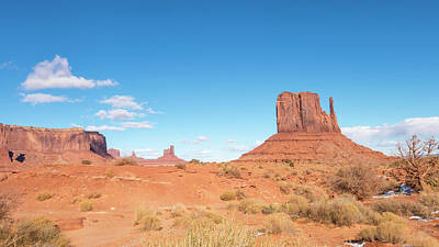 Poster featuring the photograph Monument Valley National Park In Arizona, Usa by Josef Pittner