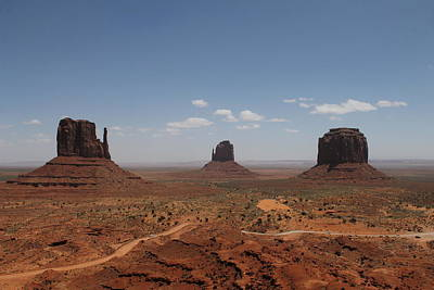 Poster featuring the photograph Monument Valley Navajo Park by Christopher Kirby