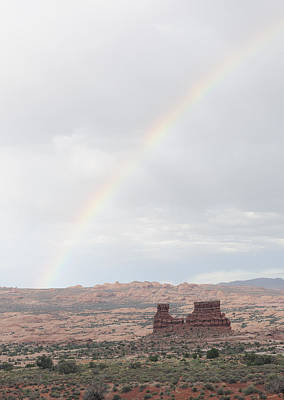 Monument Valley Rainbow Poster by Harold Piskiel