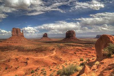 Poster featuring the photograph Monument Valley View by Donna Kennedy