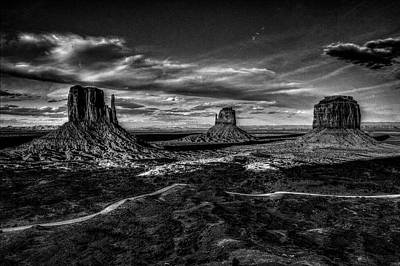 Monument Valley Views Bw Poster