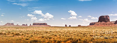 Monument Valley Wide Angle Poster by Ryan Kelly