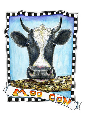 Poster featuring the painting Moo Cow by Retta Stephenson