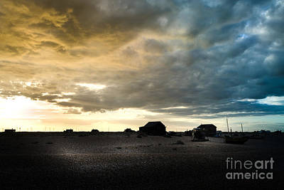 Moody Sky, Dungeness Beach  Poster
