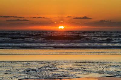 Moolack Beach Sunset Poster by Mark Kiver