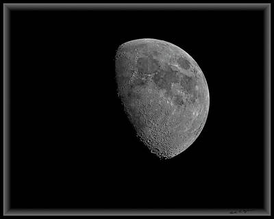 Poster featuring the photograph Moon 67 Percent Fr23 by Mark Myhaver