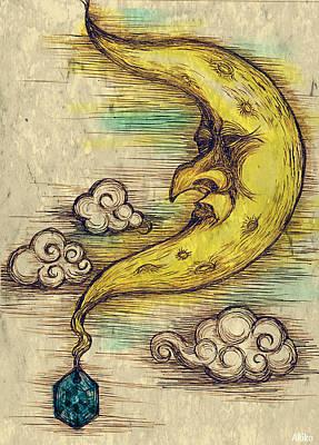 Moon Poster by Akiko Okabe
