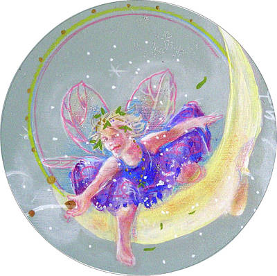 Poster featuring the painting Moon Fairy by Gertrude Palmer
