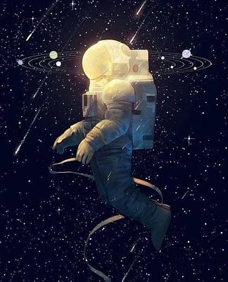 Moon Guy Poster by Oscar Benero Lopez