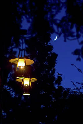 Poster featuring the photograph Moon Lanterns by Mark Andrew Thomas