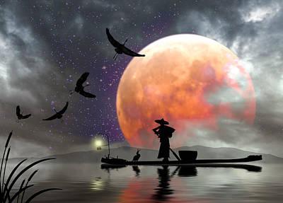 Moon Mist Poster
