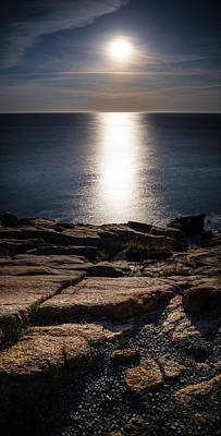 Moon Over Acadia Shores Poster
