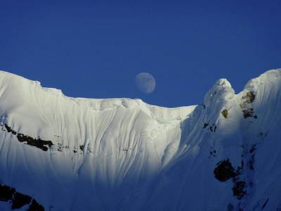 Moon Over Alaska Range 2010 Poster