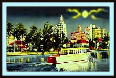 Moon Over Miami. Miami Beach Fl, 1940 Poster by Dwight GOSS