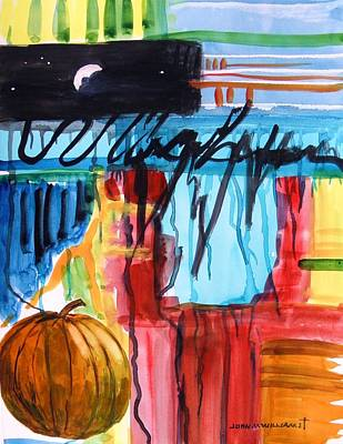 Moon Over Pumpkin Poster by John Williams