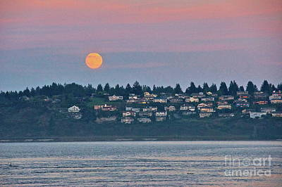 Moon Over Steilacoom Poster