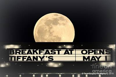 Moon Over Tiffany's Poster