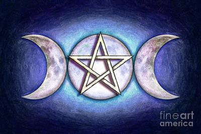 Moon Pentagram - Tripple Moon 1 Poster