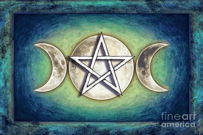 Moon Pentagram - Tripple Moon 2 Poster