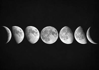 Moon Phases Poster by Taylan Apukovska