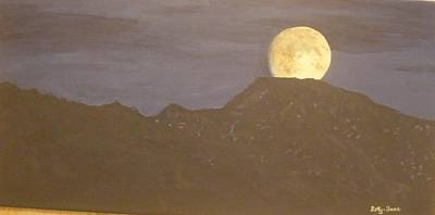 Poster featuring the painting Moon Rising by Betty-Anne McDonald
