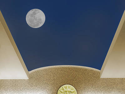 Poster featuring the photograph Moon Roof by Paul Wear