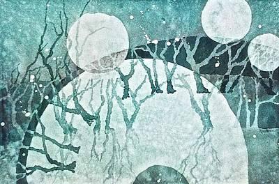 Moon Shadows Poster by Carolyn Rosenberger