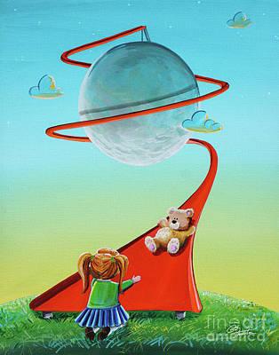 Moon Slide Poster