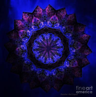 Moon Walker Mandala Poster by Sandra Gallegos