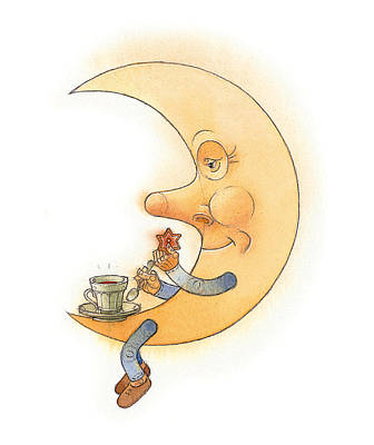 Moon02 Poster by Kestutis Kasparavicius