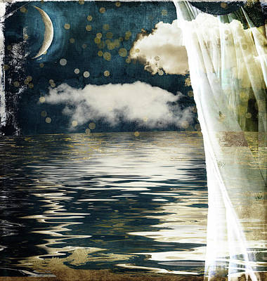 Moonlight Lullabye Poster by Mindy Sommers