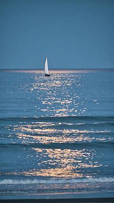 Moonlight Sail - Ogunquit Beach - Maine Poster