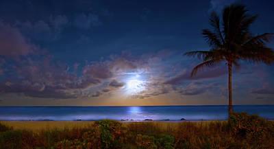 Moonlight Waves Poster
