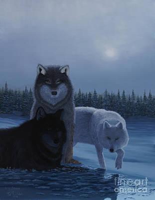 Moonlight Wolves Poster