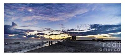 Moonlit Beach Sunset Seascape 0272b1 Poster