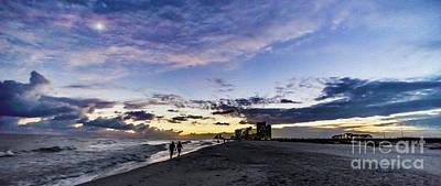 Moonlit Beach Sunset Seascape 0272c Poster