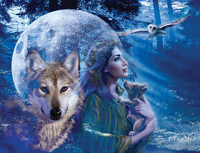 Moonlit Brethren Variant 1 Poster by Andrew Farley