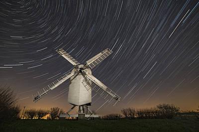 Moonlit Chillenden Windmill Poster
