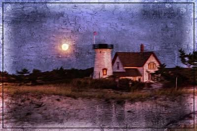 Moonlit Harbor Poster