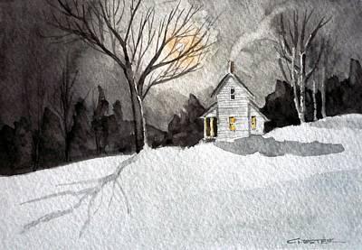 Moonlit Snow Poster