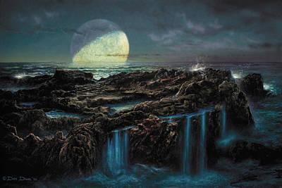 Moonrise 4 Billion Bce Poster by Don Dixon